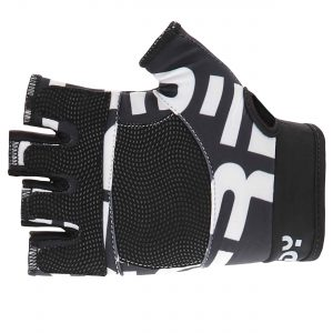 Freddy print fingerless fitness gloves with mesh inserts