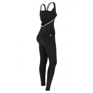 Jumpsuit with an open back and Lurex inserts