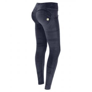 Mid-rise sculpting WR.UP® chenille skinny trousers