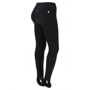 Seamless camouflage print workout leggings with a stirrup