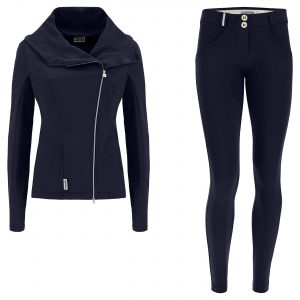 WR.UP®-IN brushed fleece biker-style tracksuit with sculpting trousers